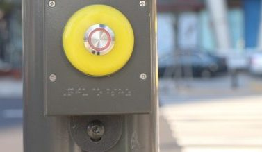 Pedestrian Crossing signage in Braille for Visually Impaired