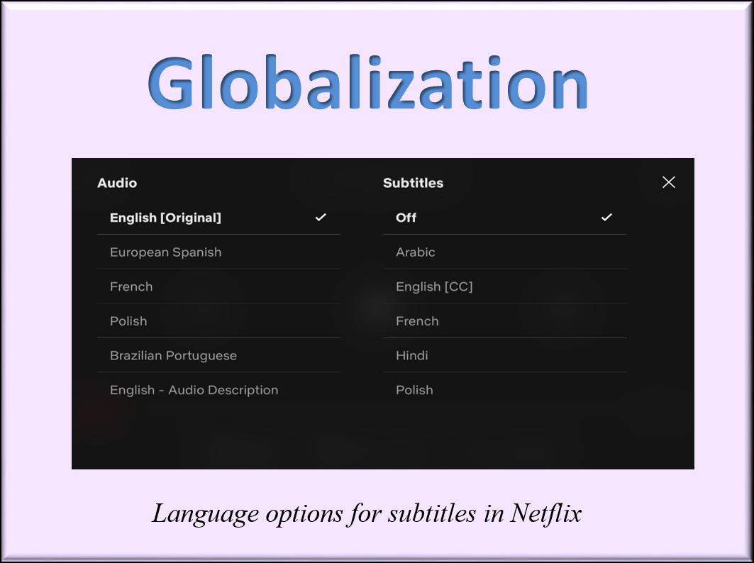 Globalization of Netflix